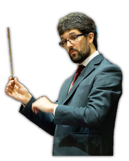 Alain Ayerdi Gurpegui director de la banda de música de Errenteria